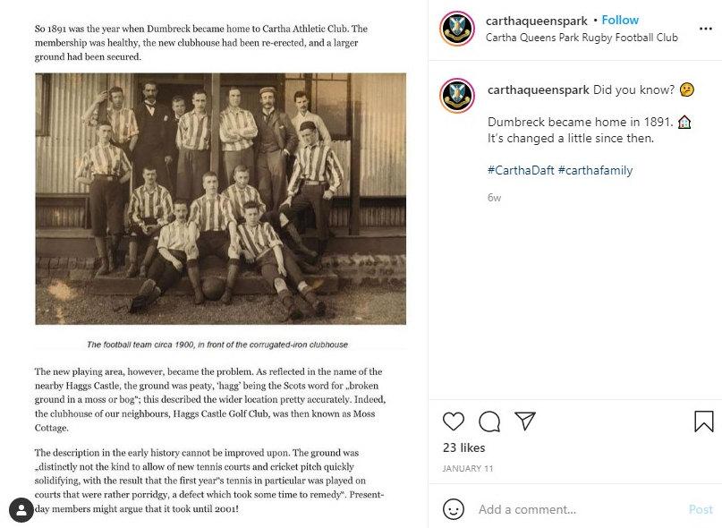 CARTHA QUEENS PARK instagram post