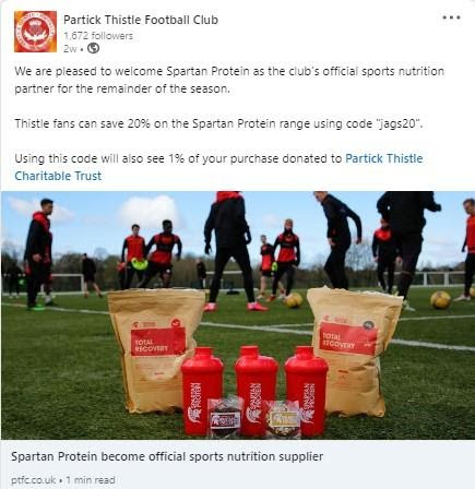Partick Thistle Football Club post